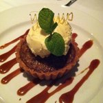 Macadamia Nut Coconut Tart at Fin Seafood