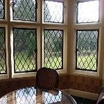 Leaded windows, no double glazing but openable