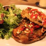 Bruschettas and salad