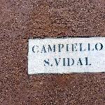 Campo San Vidal Sign
