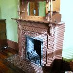 fireplace in room 301