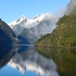 Morning reflections in Doubtful Sound.