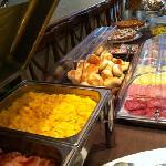 breakfast buffet. not in hotel but cafe across hotel.