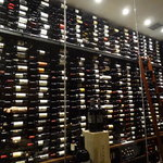 Wine room on display