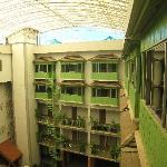 Second atrium area towards the rear of the hotel, plus additional bedrooms.