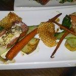 Monkfish & Bresaola starter