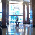 Inside view at the entrance of the hotel