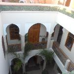 From our floor in the Riad looking down