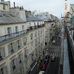Street view from balcony