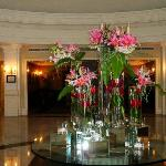 Entrance lobby flowers