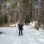 snowshoeing behing the inn