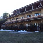 vista dell'hotel dal giardino