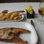 Grouper and chips at Marisqueria O Pescador