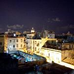 view from terrace of beautiful old Havana and Capitol building