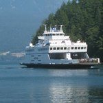 Ferry approaching Snug Cove, Bowen Island.