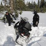 If you fail to complete a turn, your guide will help get you out (not my snowmobile)
