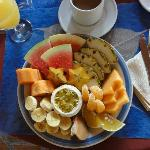 the fruit plate breakfast at our hotel