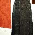 19th century dress of black silk and jet beads, heirloom from ancestor Alice Jenkins of Elgin Pl