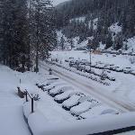 Vista sul parcheggio dell'Hotel