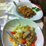 l'insalata di rinforzo ed i peperoni gratinati