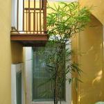 Verandah, a window and ochre walls