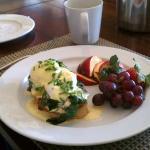 Phillip's eggs benedict with lemon-zested hollandaise