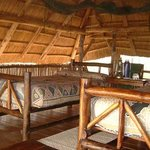 Room interiors at Rhino Safari Camp