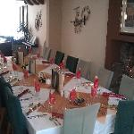 Set out for Christmas lunch