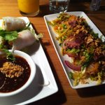 summer rolls and green mango salad