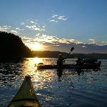 Sortie en Kayak de Mer au couché du soleil
