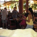 The buffet area, watch out for the birds!