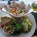 Walu ceviche style lunch w/ local ingredients