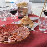 Variety of Meats Plate and Pan con Tomate