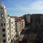 vista dal balconcino su plaza del Portillo