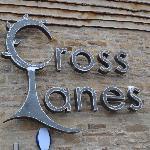 Cross Lanes Sign