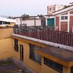 vue sur la terrasse du dortoir