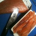Home made smoked salmon
