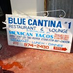 Blue Cantina sign