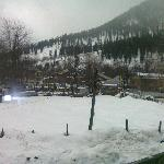 thats the graveyard..covered in snow..