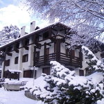Hotel Terme dopo una nevicata