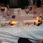 Our surprise anniversary dessert.  Mmmm!