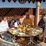 La terrasse pour manger avec une vue superbe