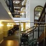 Expose beam hallway