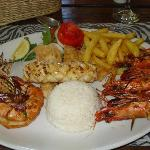 The main meal, seafood platter