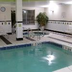 the other end of the pool and whirlpool