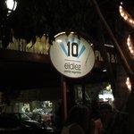El Diez Restaurant on 5th Avenue in Playa del Carmen, Mexico