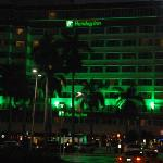 Across the street from Bayside Marketplace. Holiday inn by night