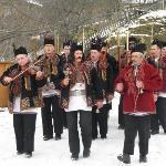 Hutsuls performing traditional songs