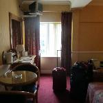 Room 309. Bathroom is to the right.