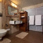 Bathrooms inside the villas